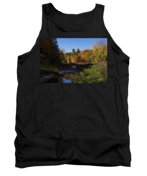Rusty Little Bridge Complementing The Fall Colors Tank Top