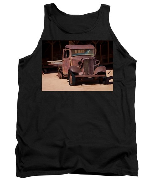Rusty Truck 04 Tank Top by Wally Hampton