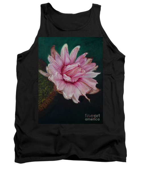 Tank Top featuring the painting Sacred Red Lotus by Mukta Gupta