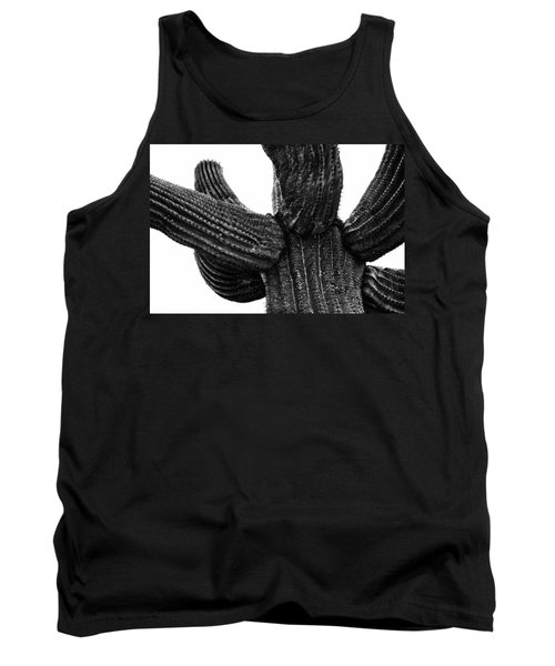 Saguaro Cactus Black And White 3 Tank Top