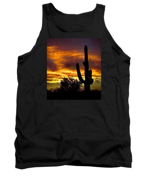 Saguaro Silhouette  Tank Top