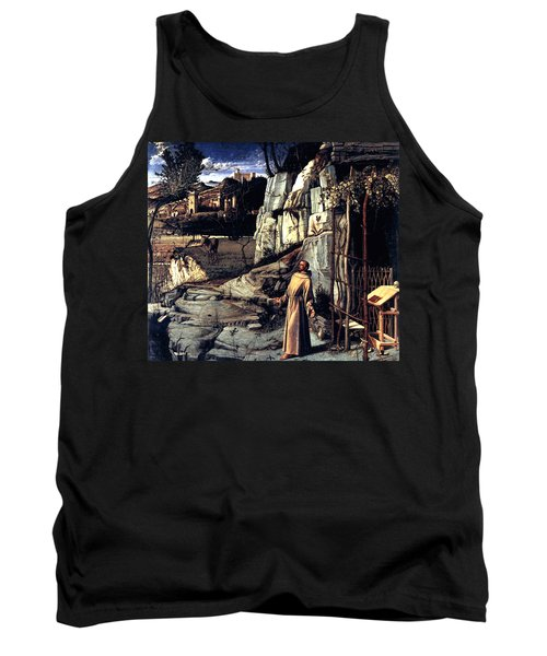 Tank Top featuring the painting Saint Francis In Ecstasy 1485 Giovanni Bellini by Karon Melillo DeVega