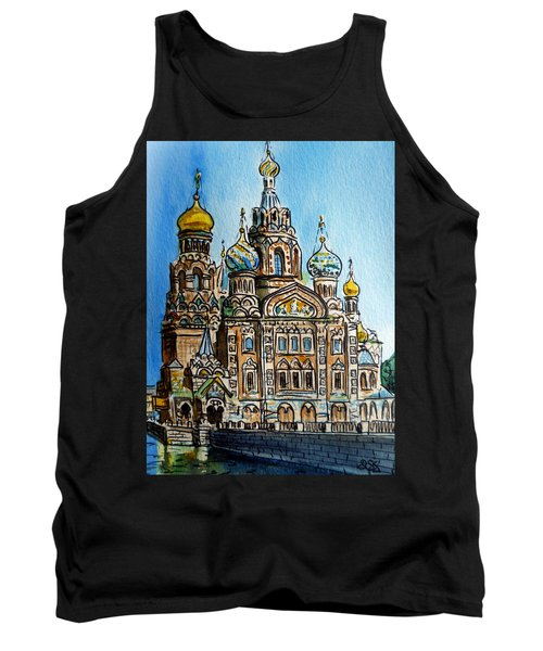 Saint Petersburg Russia The Church Of Our Savior On The Spilled Blood Tank Top