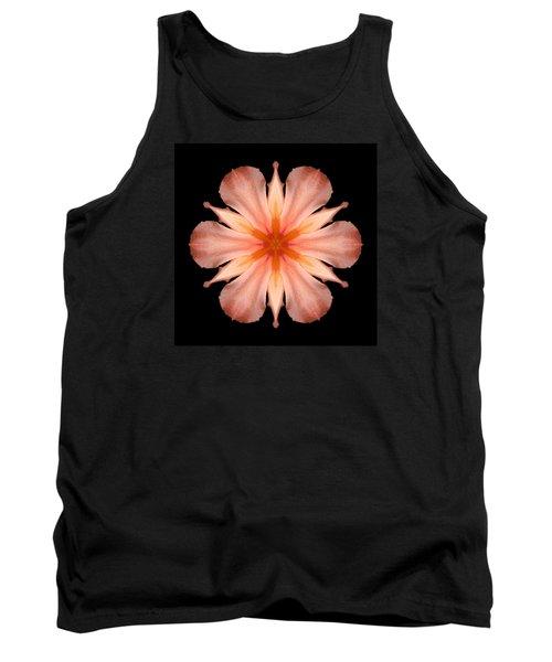 Salmon Daylily I Flower Mandala Tank Top