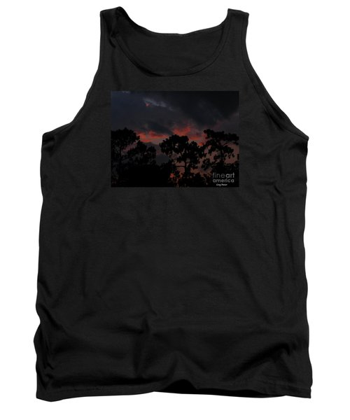 Tank Top featuring the photograph Salmon Sunset by Greg Patzer