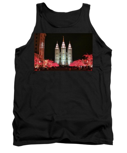 Tank Top featuring the photograph Salt Lake Temple - 1 by Ely Arsha