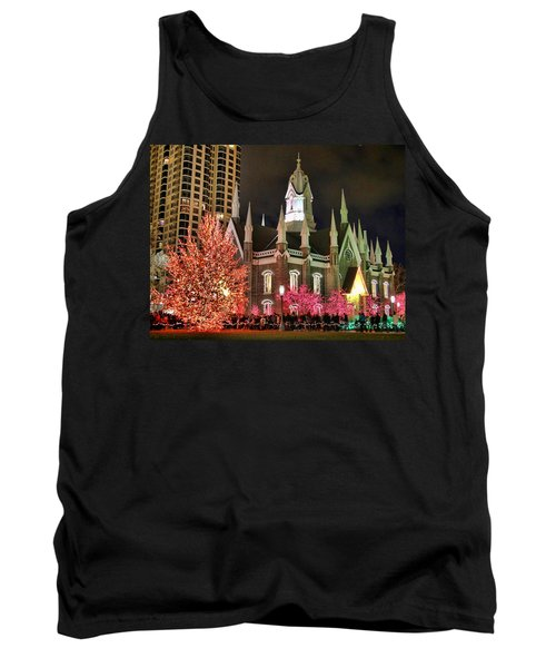 Tank Top featuring the photograph Salt Lake Temple - 3 by Ely Arsha