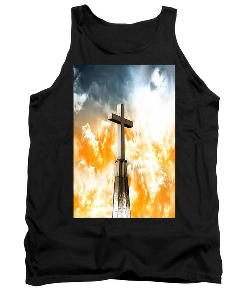 Tank Top featuring the photograph Salvation From Heaven by Aaron Berg
