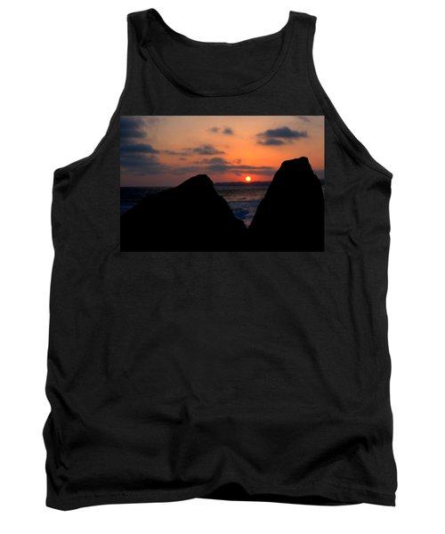 San Clemente Rocks Sunset Tank Top by Matt Harang