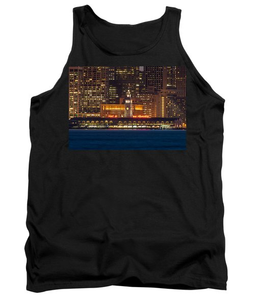 San Francisco Ferry Building At Night.  Tank Top