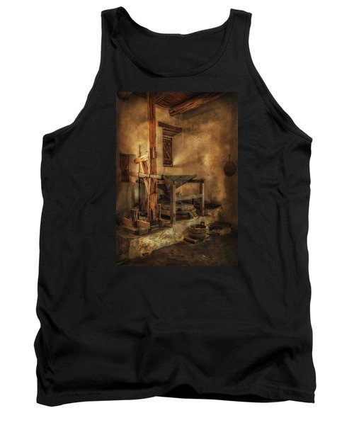 Tank Top featuring the photograph San Jose Mission Mill by Priscilla Burgers