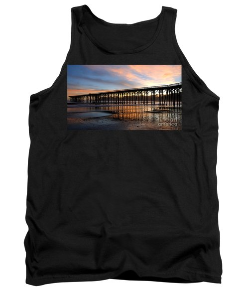 San Simeon Pier Tank Top by Vivian Christopher