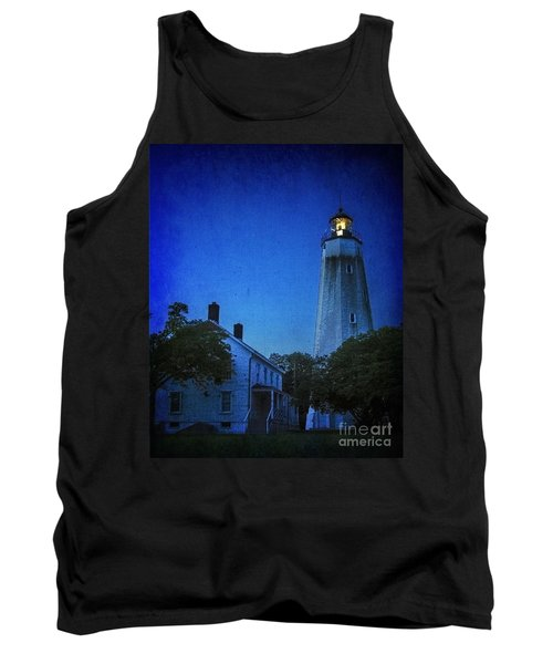 Tank Top featuring the photograph Sandy Hook Lighthouse At Twilight by Debra Fedchin
