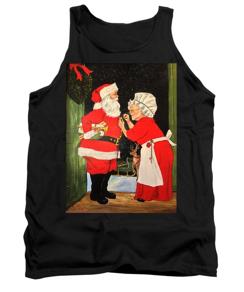 Santa And Mrs Tank Top by Alan Lakin