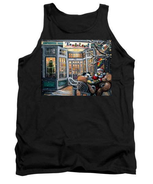 Santa At Toodeloos Toy Store Tank Top by Eileen Patten Oliver