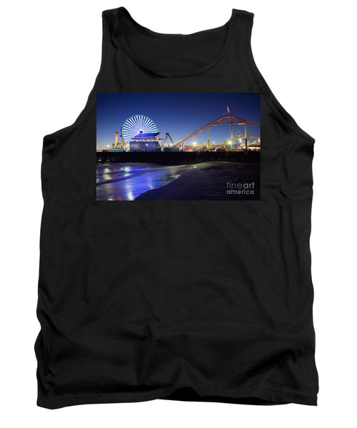 Santa Monica Pier At Night Tank Top