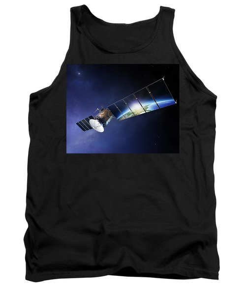 Satellite Communications With Earth Tank Top