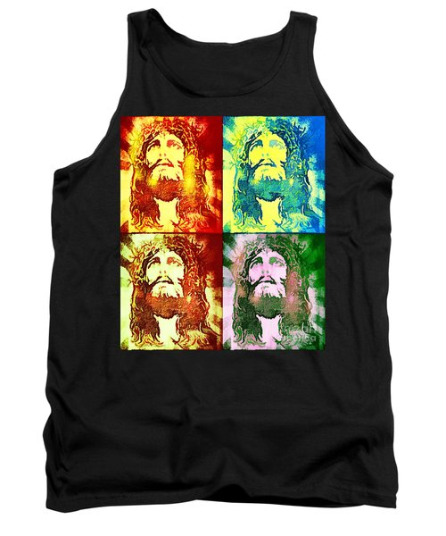 Tank Top featuring the painting Savior Faces by Dave Luebbert