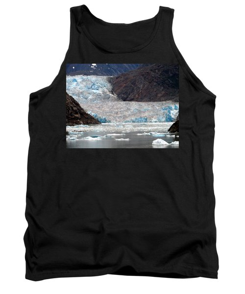 Tank Top featuring the photograph Sawyer Glacier by Jennifer Wheatley Wolf