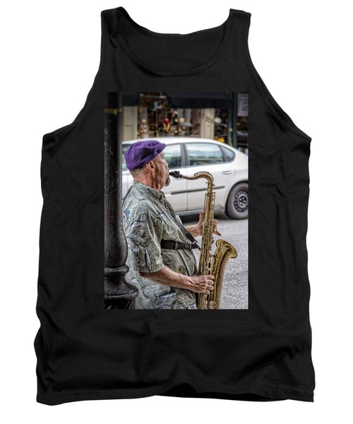 Sax In The Street Tank Top