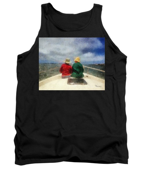Sea Breeze 4 On The Bay Tank Top by Linda Weinstock