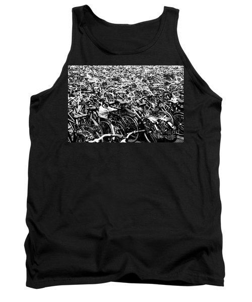 Tank Top featuring the photograph Sea Of Bicycles 3 by Joey Agbayani