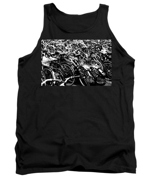 Tank Top featuring the photograph Sea Of Bicycles 2 by Joey Agbayani