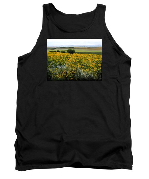 Sea Of Sunflowers Tank Top