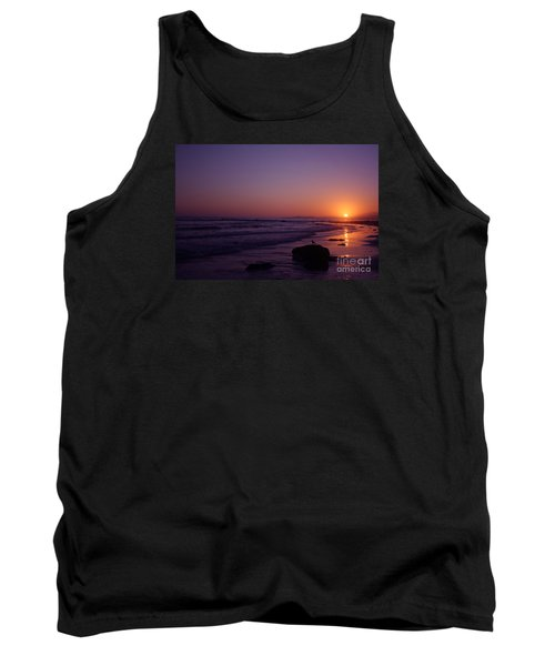 Seagull Watching The Sunset Carpinteria State Beach Tank Top by Ian Donley