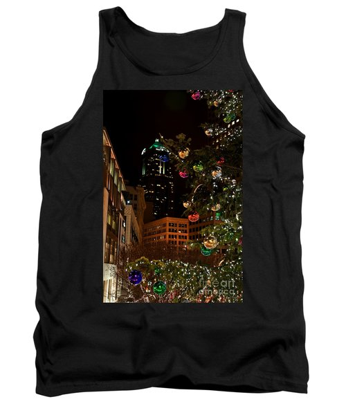 Seattle Downtown Christmas Time Art Prints Tank Top by Valerie Garner