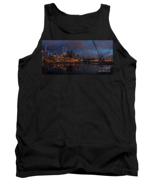 Seattle Night Skyline Tank Top