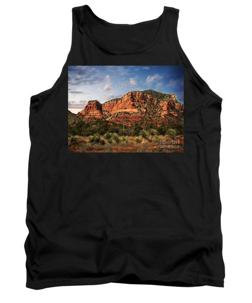Tank Top featuring the photograph Sedona Vortex  And Yucca by Barbara Chichester