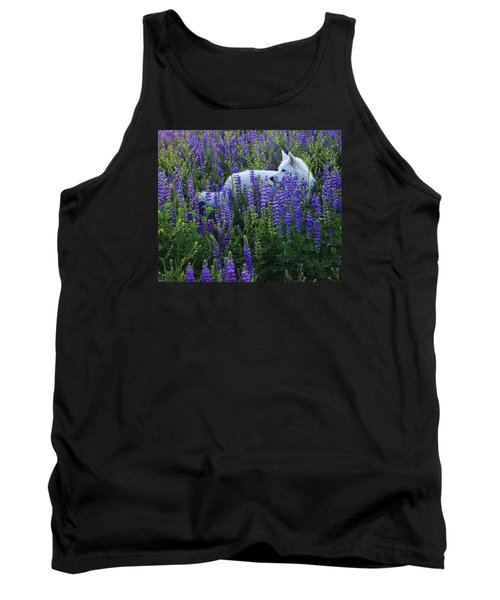 Tank Top featuring the photograph Sekani In Lupine by Sean Sarsfield
