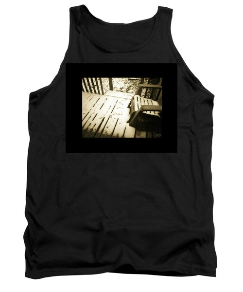 Sepia - Nature Paws In The Snow Tank Top by Absinthe Art By Michelle LeAnn Scott