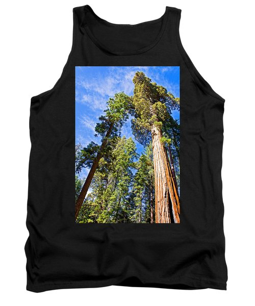 Sequoias Reaching To The Clouds In Mariposa Grove In Yosemite National Park-california Tank Top