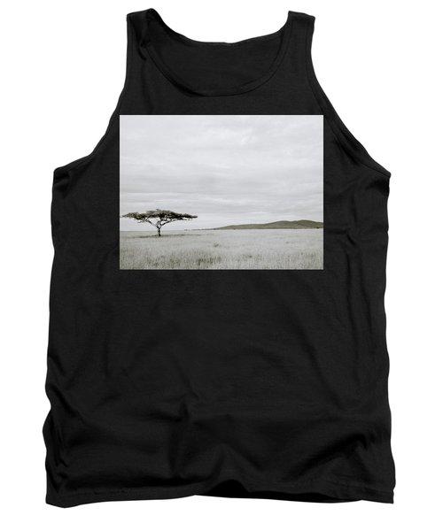 Serengeti Acacia Tree  Tank Top by Shaun Higson