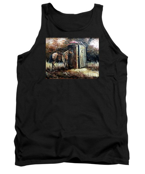 Shade For My Horse Tank Top by Lee Piper