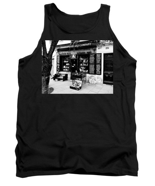 Shakespeare And Company Boookstore In Paris France Tank Top by Richard Rosenshein