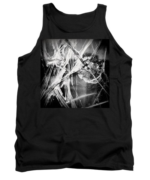Tank Top featuring the photograph Shatter - Black And White by Joseph Skompski