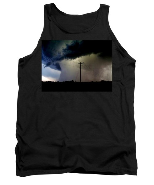 Tank Top featuring the photograph Shrouded Tornado by Ed Sweeney