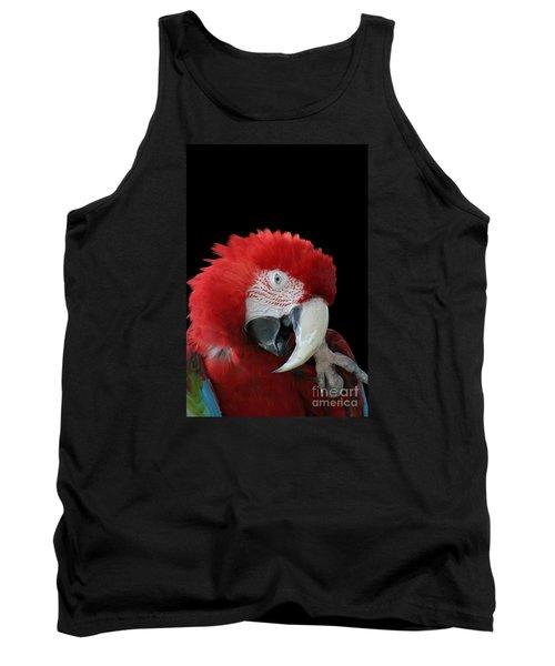 Shy Macaw Tank Top by Judy Whitton