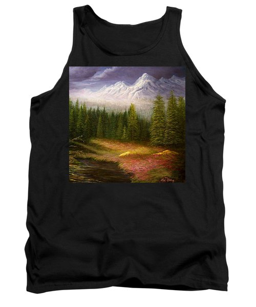 Tank Top featuring the painting Sierra Spring Storm by Loxi Sibley