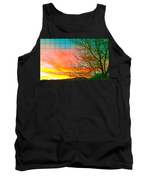 Sierra Sunset Cubed Tank Top