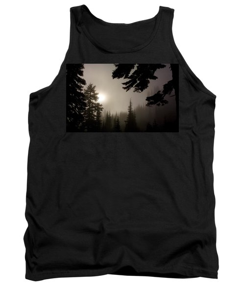 Tank Top featuring the photograph Silhouettes Of Trees On Mt Rainier by Greg Reed
