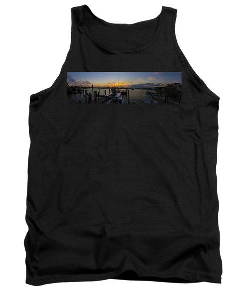 Silver Lake Sunset Panorama Tank Top