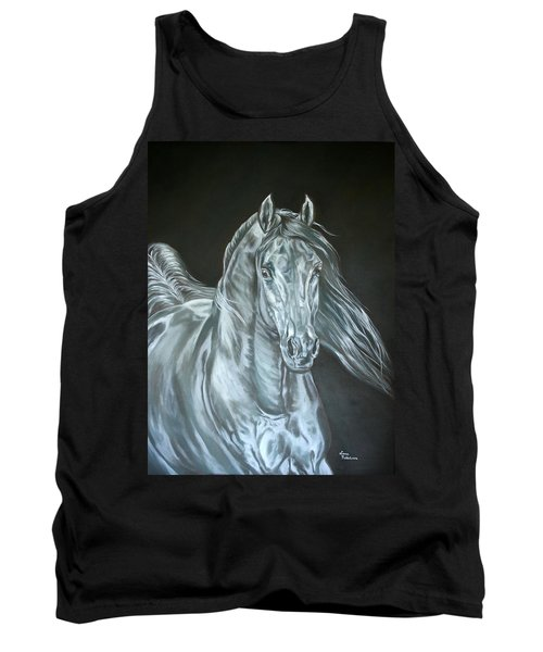 Tank Top featuring the painting Silver by Leena Pekkalainen