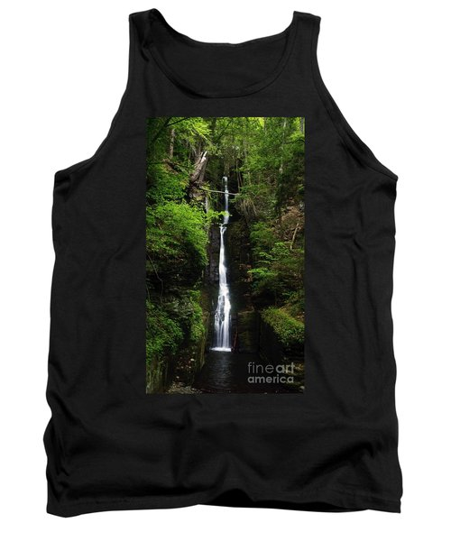 Tank Top featuring the photograph Silverthread Falls by Debra Fedchin