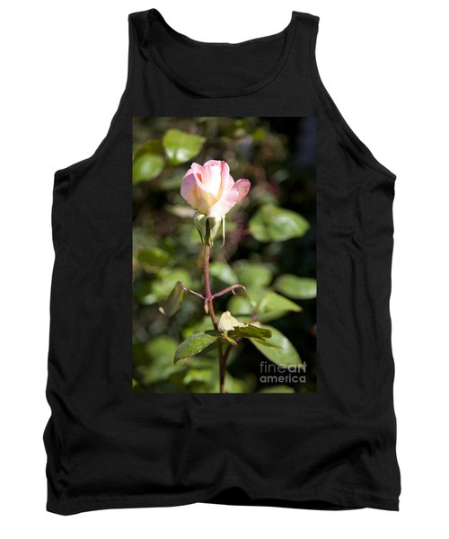 Tank Top featuring the photograph Single Rose by David Millenheft