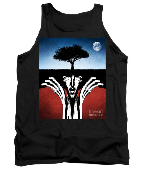 Tank Top featuring the digital art Sir Real by Phil Perkins