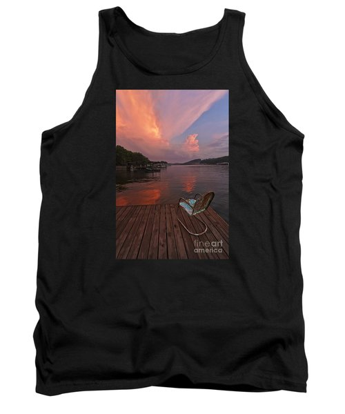 Sittin' On The Dock Tank Top by Dennis Hedberg